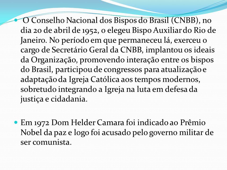 O Conselho Nacional dos Bispos do Brasil (CNBB), no dia 20 de abril de 1952, o elegeu Bispo Auxiliar do Rio de Janeiro. No período em que permaneceu l