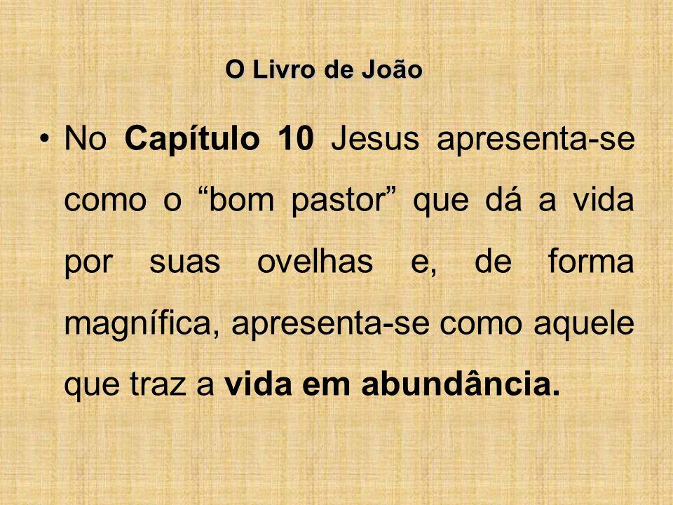 O Livro de João No Capítulo 10 Jesus apresenta-se como o bom pastor que dá a vida por suas ovelhas e, de forma magnífica, apresenta-se como aquele que traz a vida em abundância.