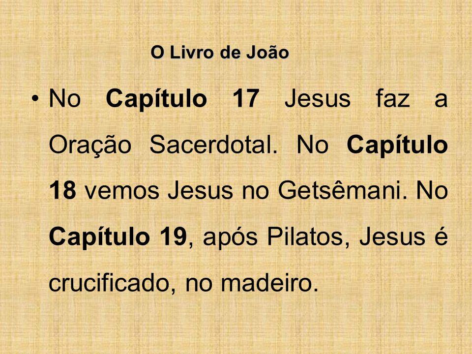 O Livro de João No Capítulo 17 Jesus faz a Oração Sacerdotal.