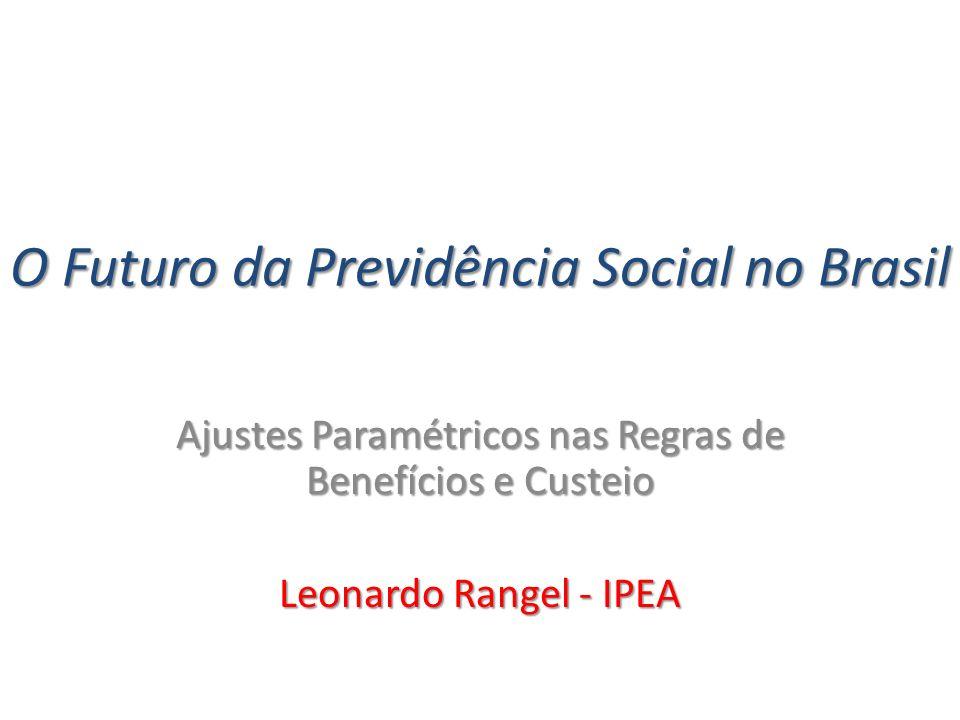 O Futuro da Previdência Social no Brasil Ajustes Paramétricos nas Regras de Benefícios e Custeio Leonardo Rangel - IPEA