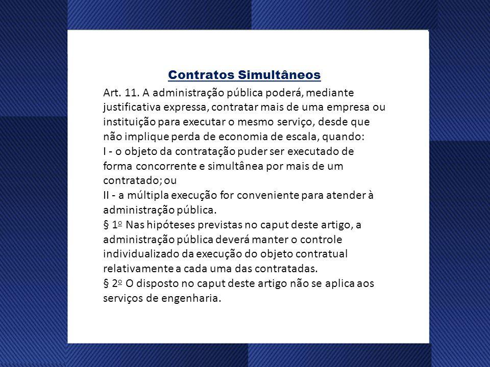 Contratos Simultâneos Art.11.