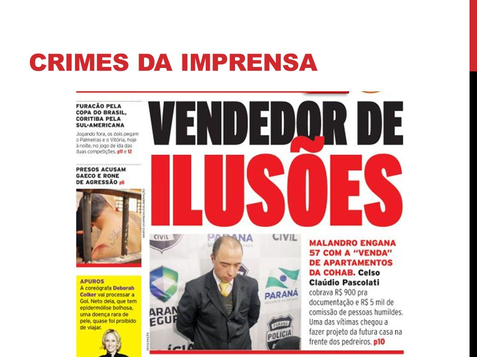 CRIMES DA IMPRENSA