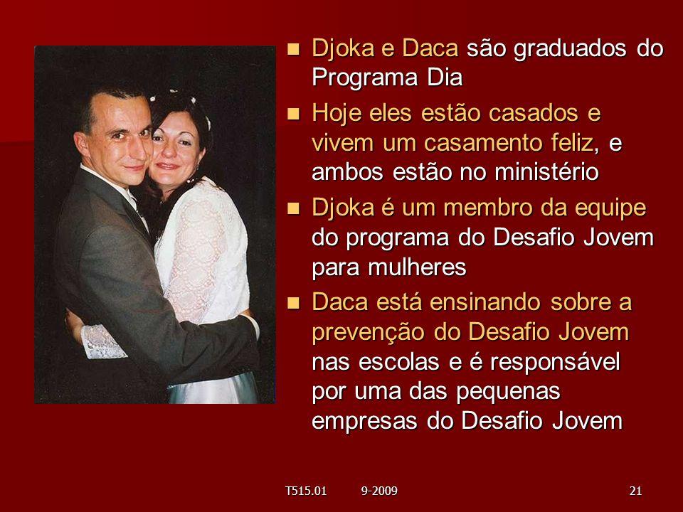 Djoka e Daca são graduados do Programa Dia Djoka e Daca são graduados do Programa Dia Hoje eles estão casados e vivem um casamento feliz, e ambos estã
