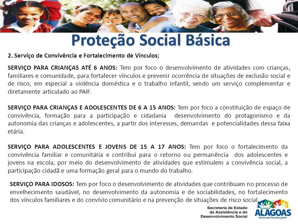 SERVIÇO PARA CRIANÇAS ATÉ 6 ANOS: Tem por foco o desenvolvimento de atividades com crianças, familiares e comunidade, para fortalecer vínculos e preve