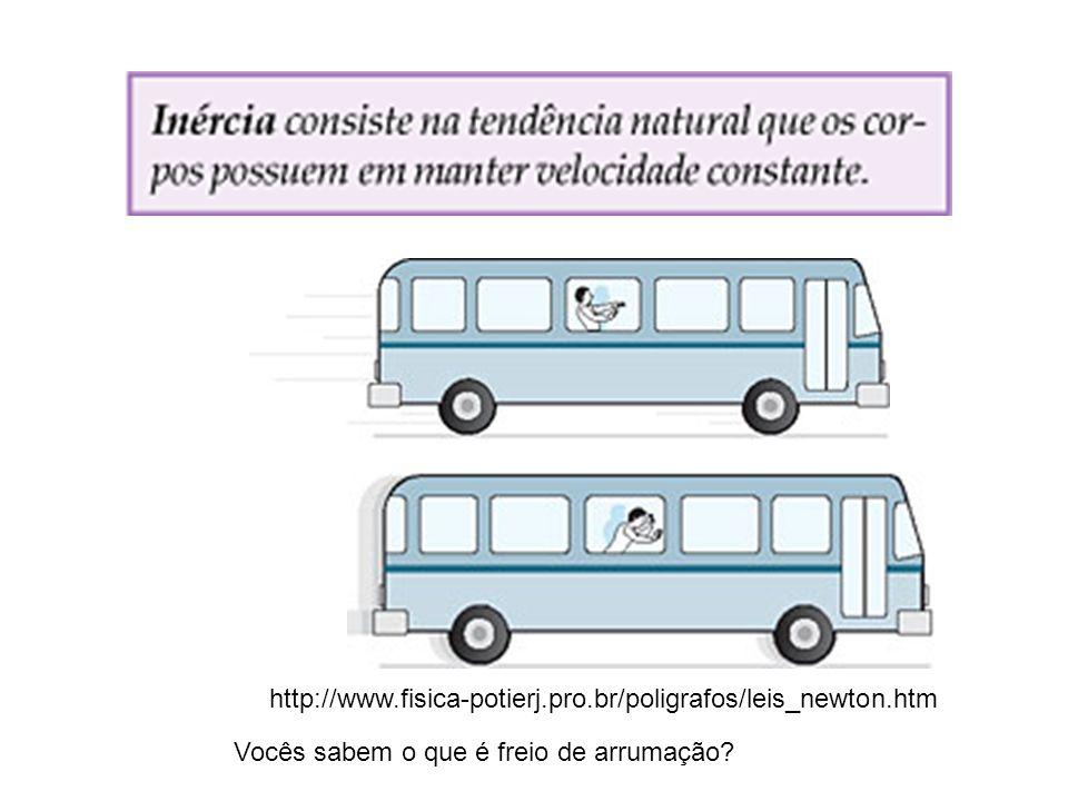 http://www.fisica-potierj.pro.br/poligrafos/leis_newton.htm Vocês sabem o que é freio de arrumação?