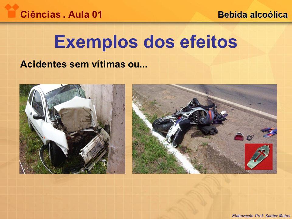 Elaboração Prof.Santer Matos Ciências. Aula 01 Bebida alcoólica Acidentes sem vítimas ou...