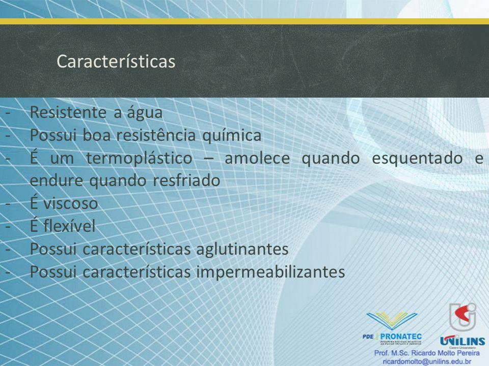 Tipos de Asfalto -CAP: Cimento Asfáltico de Petróleo Resíduo da vaporização da fração leve do petróleo; Os CAP 7, utilizados para tratamento de superfícies, devem estar abaixo de 177°C, não se deve aplicar em dias chuvosos, ou com temperatura menor que 10°C, ou em superfícies molhadas; Os CAP 20 e 40 são aplicados às misturas à quente de areia- asfalto e concreto asfáltico.
