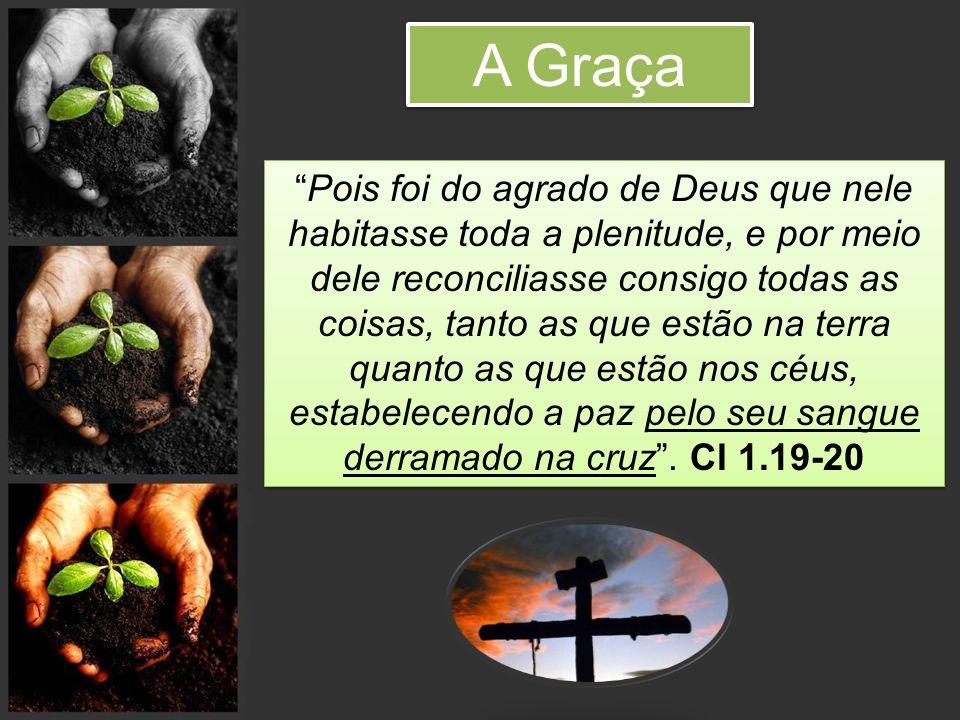 Pois foi do agrado de Deus que nele habitasse toda a plenitude, e por meio dele reconciliasse consigo todas as coisas, tanto as que estão na terra qua