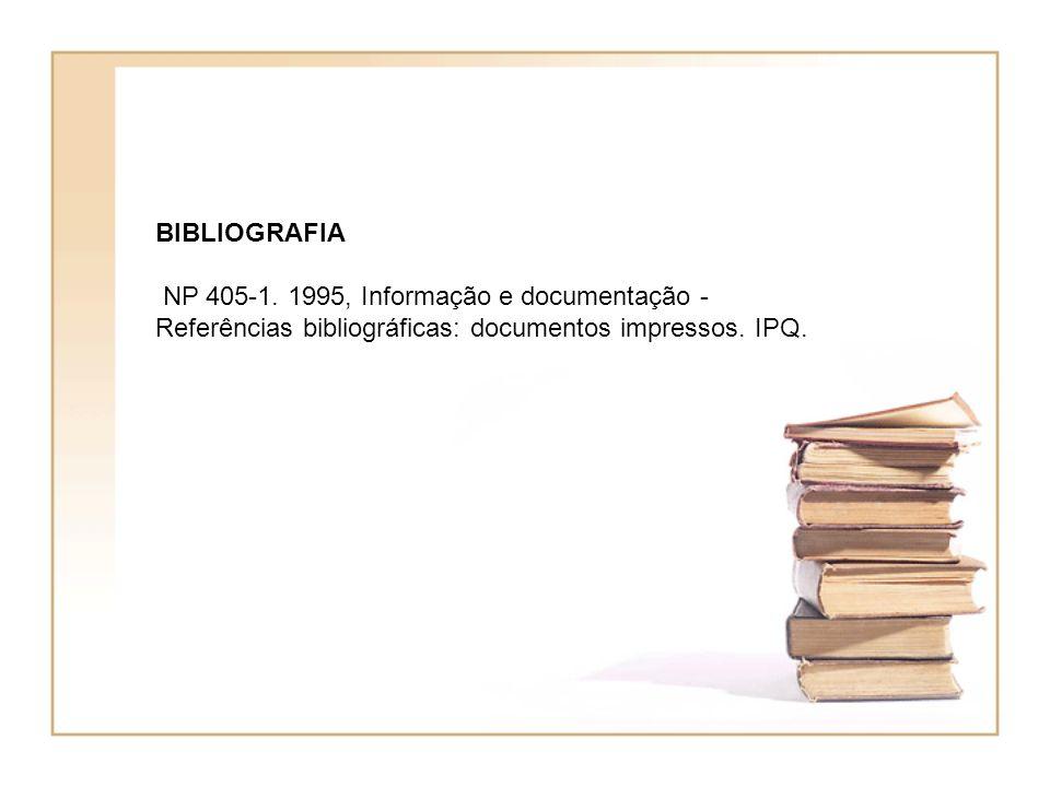 BIBLIOGRAFIA NP 405-1.