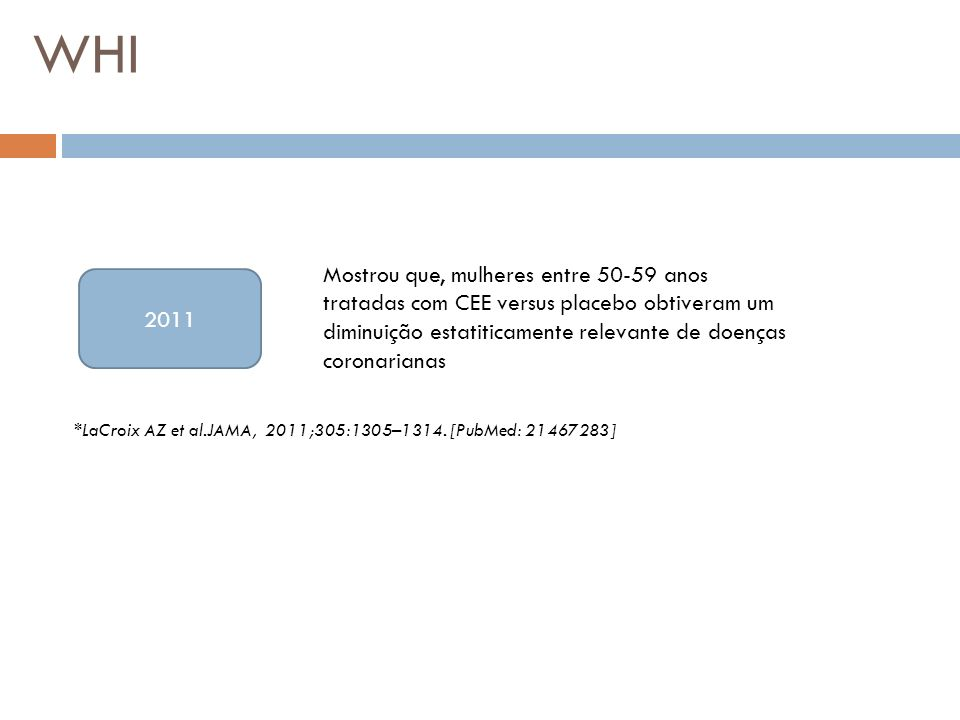 WHI *LaCroix AZ et al.JAMA, 2011;305:1305–1314.