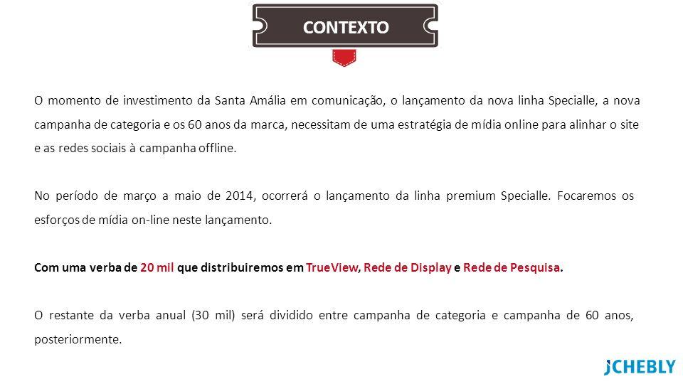 No período de março a maio de 2014, ocorrerá o lançamento da linha premium Specialle. Focaremos os esforços de mídia on-line neste lançamento. Com uma
