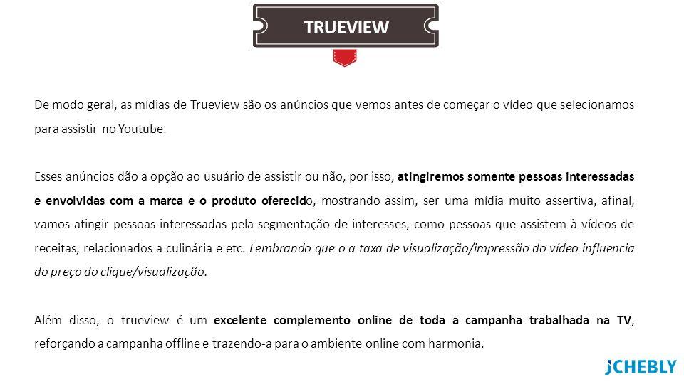 De modo geral, as mídias de Trueview são os anúncios que vemos antes de começar o vídeo que selecionamos para assistir no Youtube. Esses anúncios dão