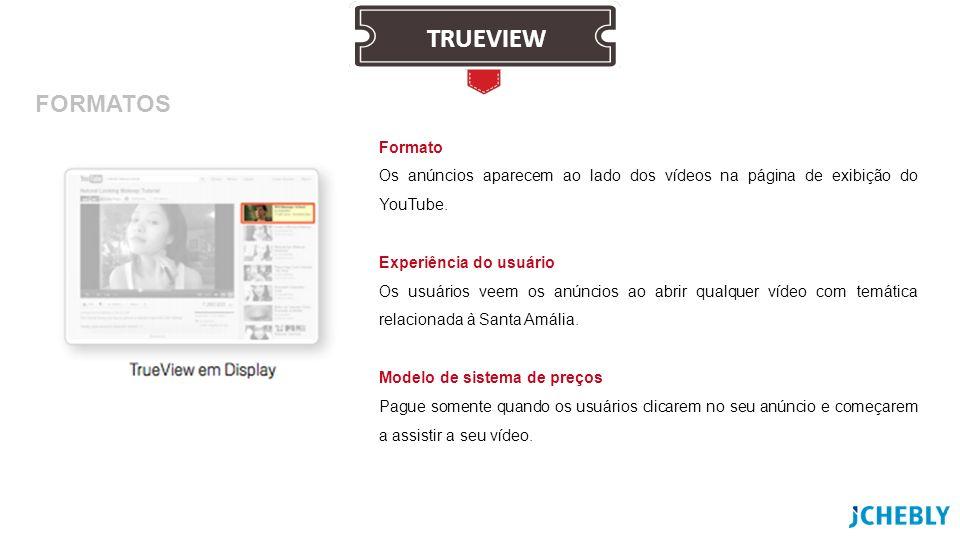 Formato Os anúncios aparecem ao lado dos vídeos na página de exibição do YouTube. Experiência do usuário Os usuários veem os anúncios ao abrir qualque