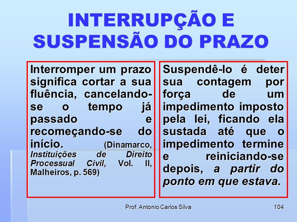 Prof. Antonio Carlos Silva103 PRAZO PARA OFERECER EMBARGOS DO DEVEDOR Art. 738. Os embargos serão oferecidos no prazo de 15 (quinze) dias, contados da