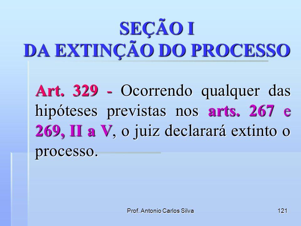 Prof. Antonio Carlos Silva120 Art. 328 - Cumpridas as providências preliminares, ou não havendo necessidade delas, o juiz proferirá julgamento conform