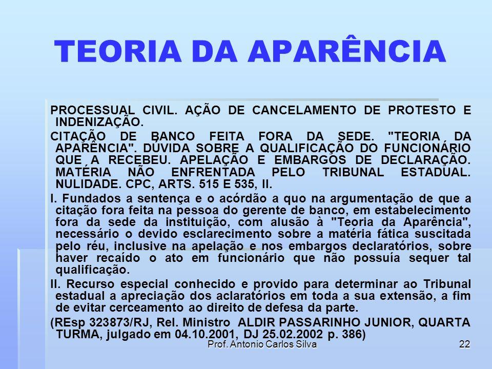 Prof. Antonio Carlos Silva21 A QUEM SE FARÁ A CITAÇÃO? Art. 215 Far-se-á a citação pessoalmente ao réu, ao seu representante legal ou ao procurador le