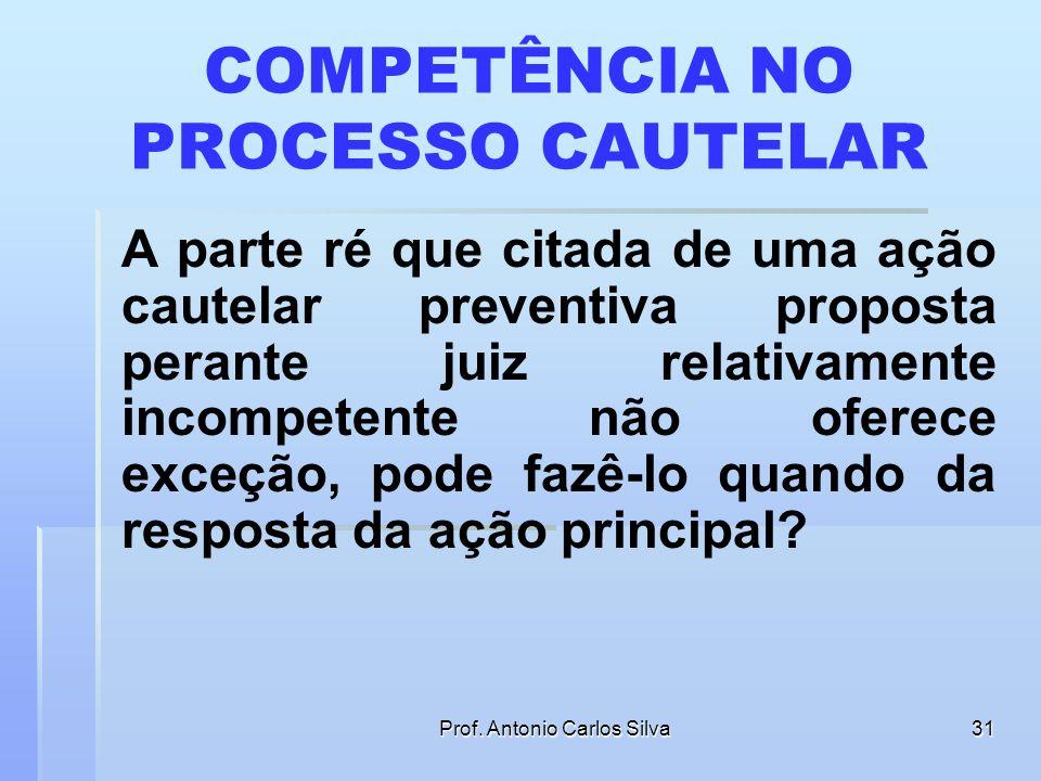 Prof. Antonio Carlos Silva30 PREVENÇÃO E DISTRIBUIÇÃO POR DEPENDÊNCIA Art. 253. Distribuir-se-ão por dependência as causas de qualquer natureza: I - q
