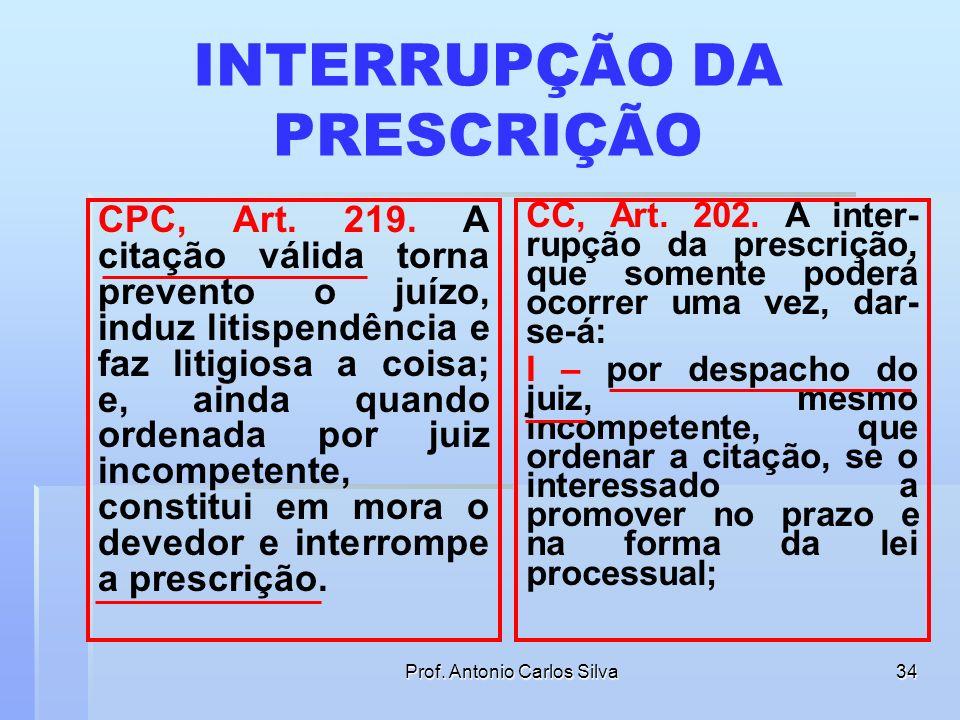 Prof. Antonio Carlos Silva33 STF, no Conflito de Jurisdição nº 6313/RJ A prevenção não cria competência, mas fixa competência preexistente, pois somen