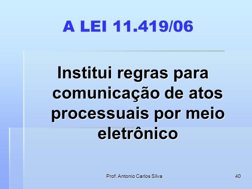 Prof. Antonio Carlos Silva39 CITAÇÃO COM HORA CERTA AUSÊNCIA DE COMUNICAÇÃO E M E N T A PROCESSUAL CIVIL – DESPEJO. CITAÇÃO POR HORA CERTA. ART. 229,