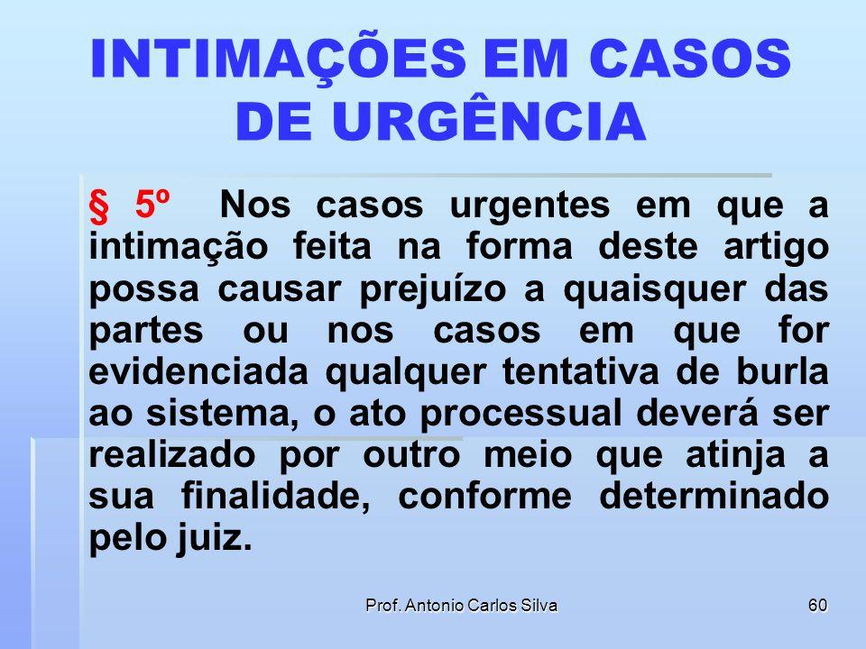 Prof. Antonio Carlos Silva59 AVISO POR E-MAIL § 4º. Em caráter informativo, poderá ser efetivada remessa de correspondência eletrônica, comunicando o