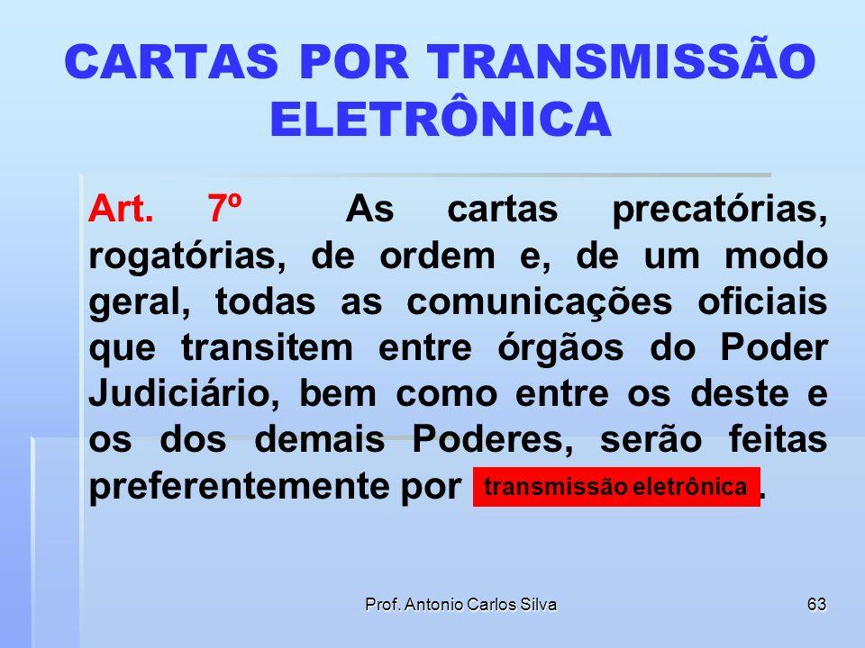 Prof. Antonio Carlos Silva62 CITAÇÃO ELETRÔNICA Art. 6º Observadas as formas e as cautelas do art. 5º desta Lei, as citações, inclusive da Fazenda Púb