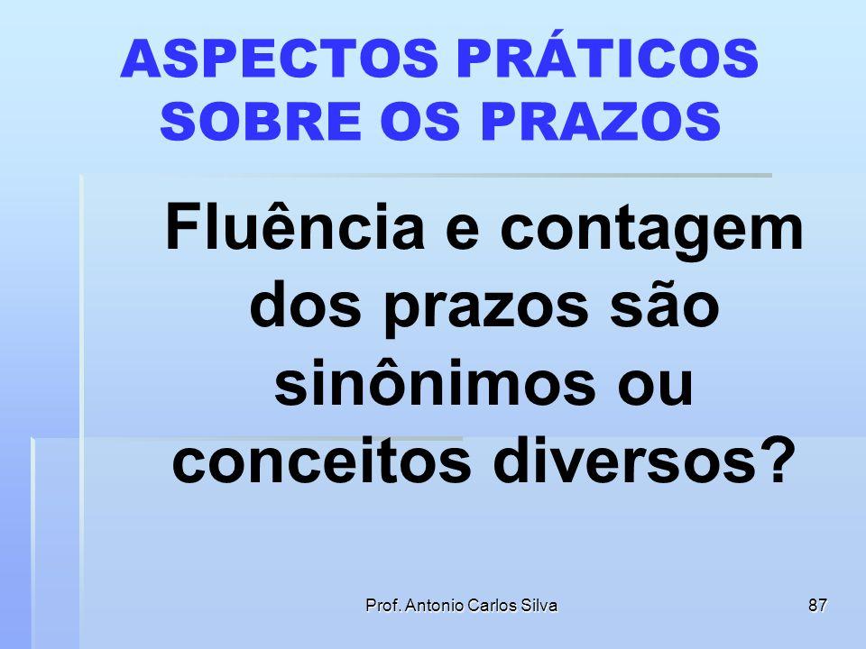 Prof. Antonio Carlos Silva86 DIREITO INTERTEMPORAL Art. 18. Os órgãos do Poder Judiciário regulamentarão esta Lei, no que couber, no âmbito de suas re