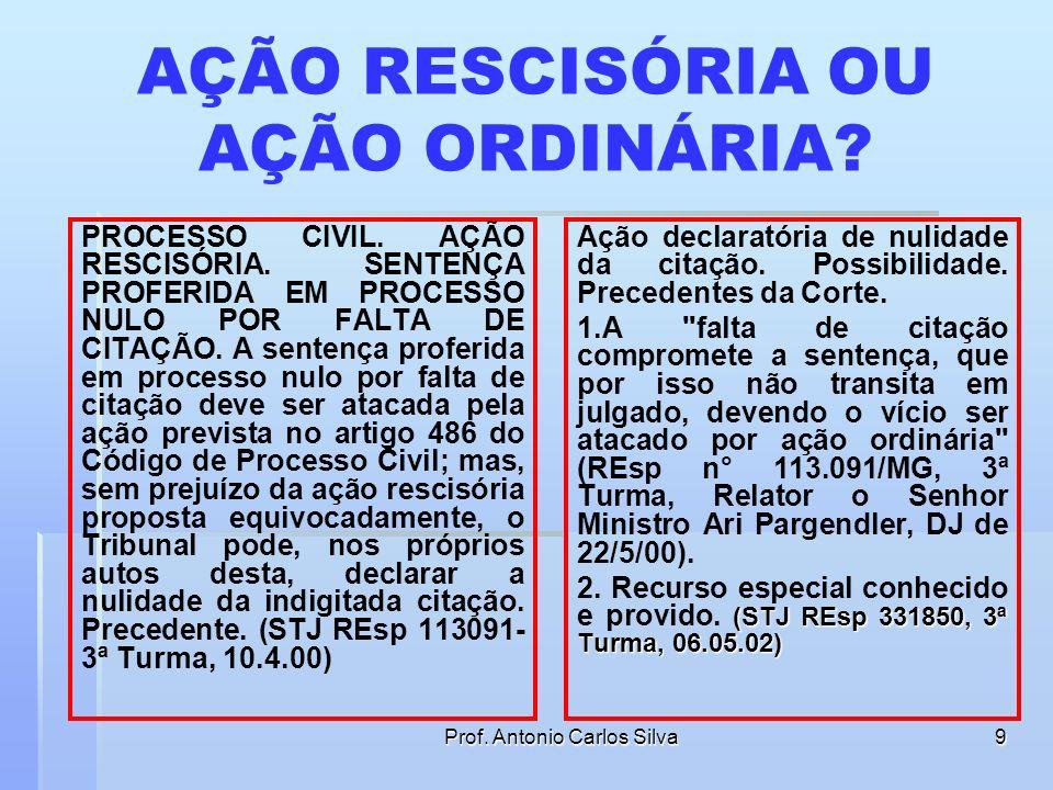 Prof. Antonio Carlos Silva8 DO EFEITO DA REVELIA Art. 324. Se o réu não contestar a ação, o juiz, verificando que não ocorreu o efeito da revelia, man