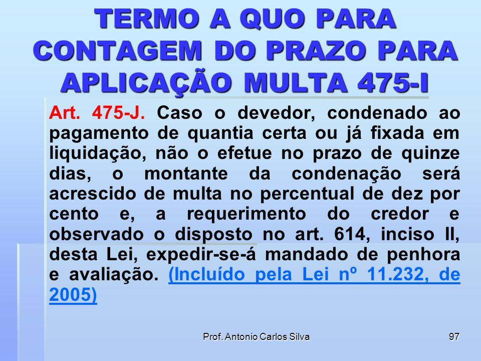 Prof. Antonio Carlos Silva96 RECURSO ADESIVO FLUÊNCIA SIMULTÂNEA (PRAZO COMUM E ESPECIAL) Art. 500. Cada parte interporá o recurso, independentemente,