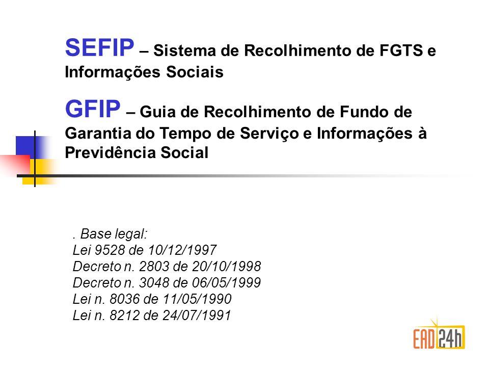 Nomenclaturas Arquivo NRA.SFP Selo Conectividade Social Downloads: Sefip 8.4 – www.caixa.gov.br/downloads/fgts/sefípwww.caixa.gov.br/downloads/fgts/sefíp Conectividade social – www.caixa.gov.br/downloads/conectividadesocial