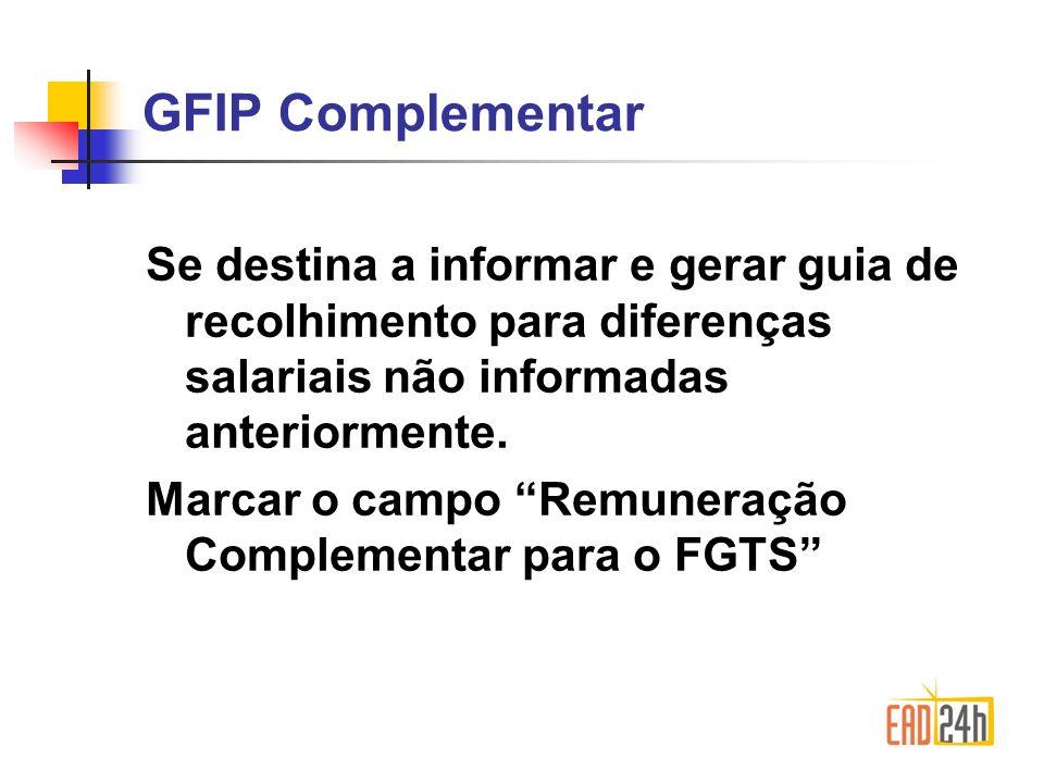 Penalidades Estão sujeitos a penalidades da Lei 8036/90 e Lei 8212/91, aqueles que: Deixarem de transmitir a GFIP/SEFIP; Transmitir com dados não correspondentes aos fatos geradores; Transmitir com erro de preenchimento dos dados.