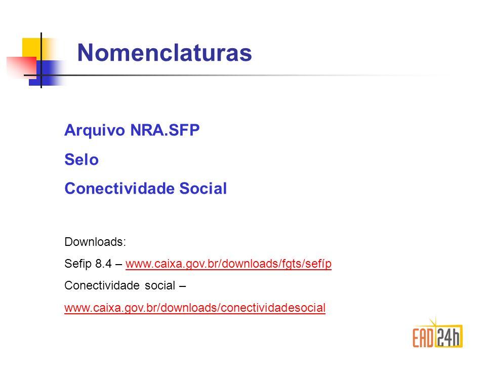 SEFIP x Conectividade Social O Sefip gera, o Conectividade Social transmite