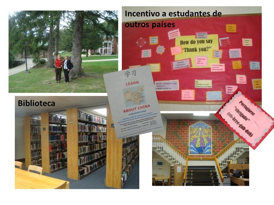 Biblioteca Incentivo a estudantes de outros países