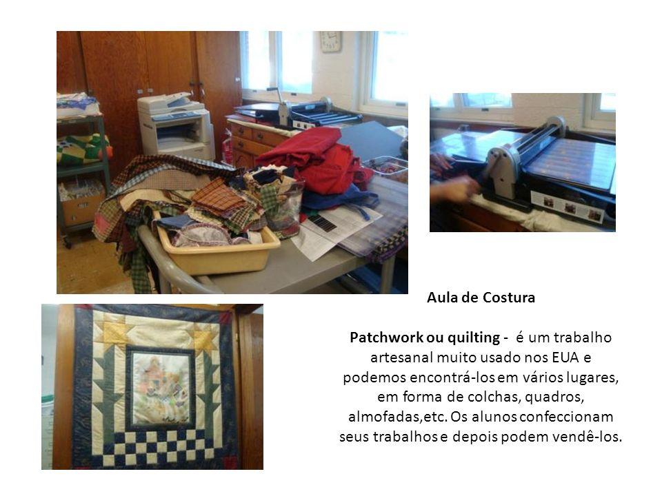 Aula de Costura Patchwork ou quilting - é um trabalho artesanal muito usado nos EUA e podemos encontrá-los em vários lugares, em forma de colchas, qua