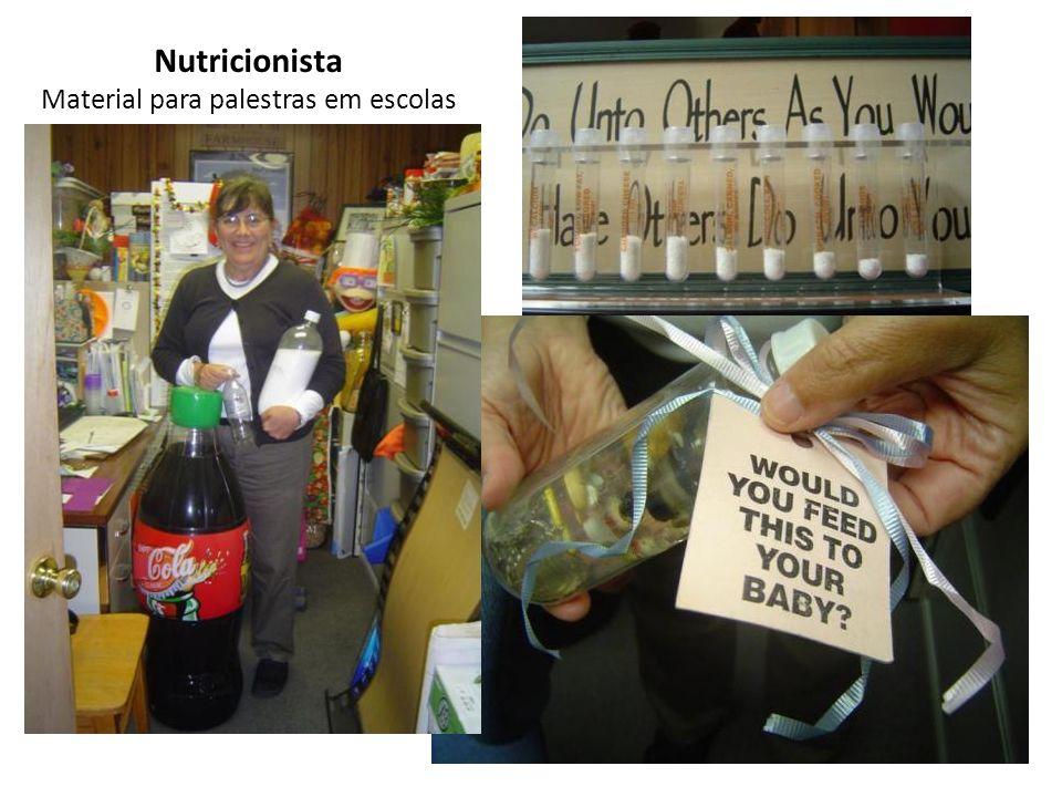 Nutricionista Material para palestras em escolas