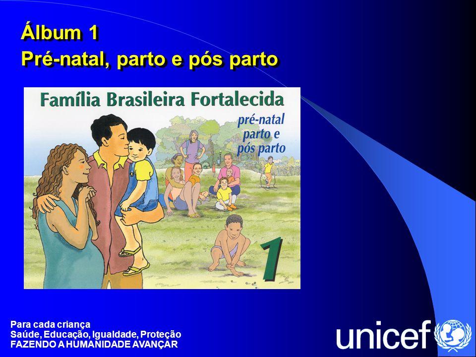 Para cada criança Saúde, Educação, Igualdade, Proteção FAZENDO A HUMANIDADE AVANÇAR Álbum 1 Pré-natal, parto e pós parto Álbum 1 Pré-natal, parto e pó