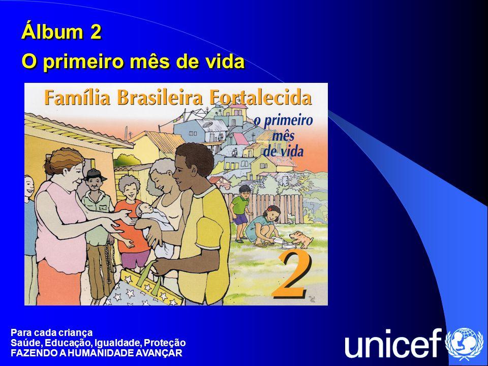 Para cada criança Saúde, Educação, Igualdade, Proteção FAZENDO A HUMANIDADE AVANÇAR Álbum 2 O primeiro mês de vida Álbum 2 O primeiro mês de vida