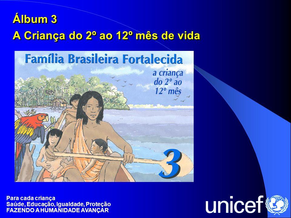 Para cada criança Saúde, Educação, Igualdade, Proteção FAZENDO A HUMANIDADE AVANÇAR Álbum 3 A Criança do 2º ao 12º mês de vida Álbum 3 A Criança do 2º
