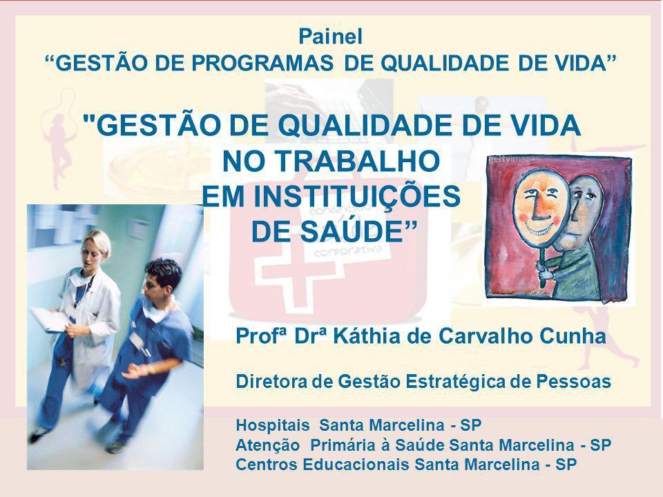 Painel GESTÃO DE PROGRAMAS DE QUALIDADE DE VIDA