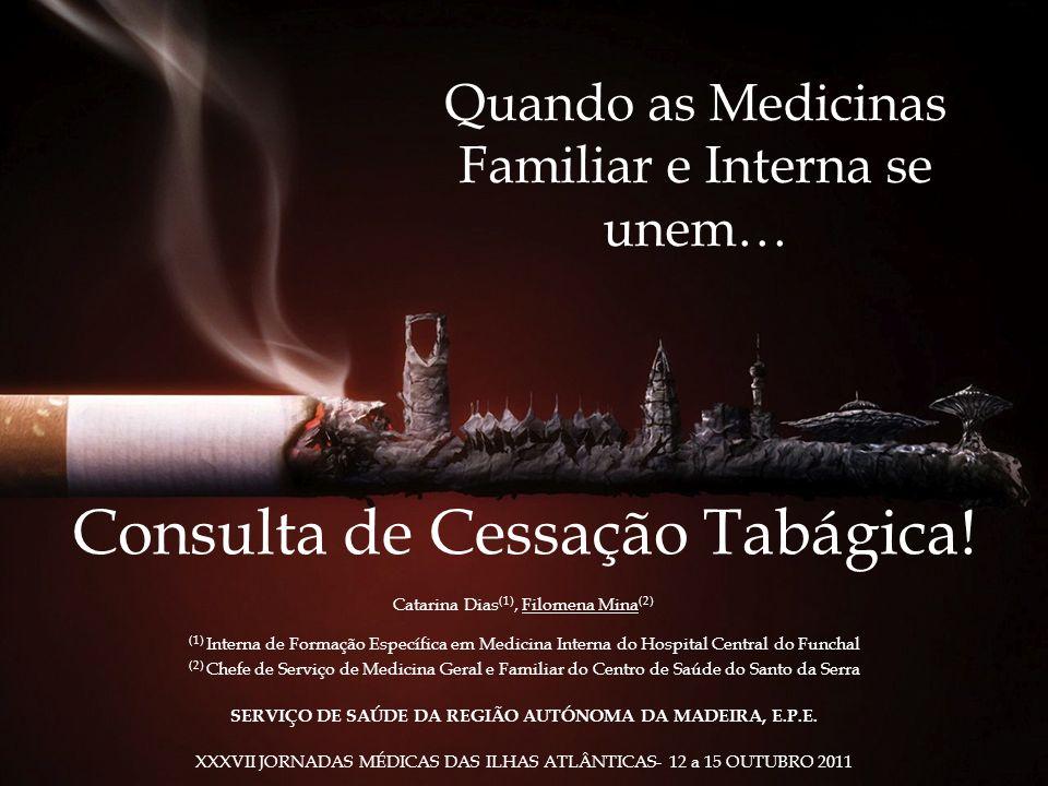 Quando as Medicinas Familiar e Interna se unem… Consulta de Cessação Tabágica! Catarina Dias (1), Filomena Mina (2) (1) Interna de Formação Específica