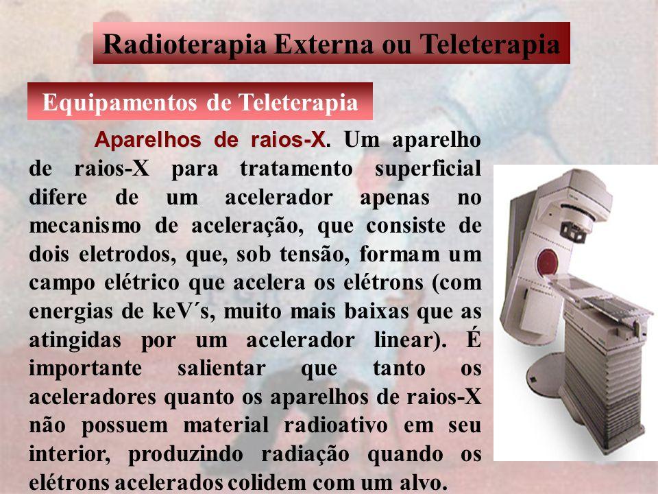 Radioterapia Externa ou Teleterapia Equipamentos de Teleterapia Aparelhos de raios-X Aparelhos de raios-X. Um aparelho de raios-X para tratamento supe