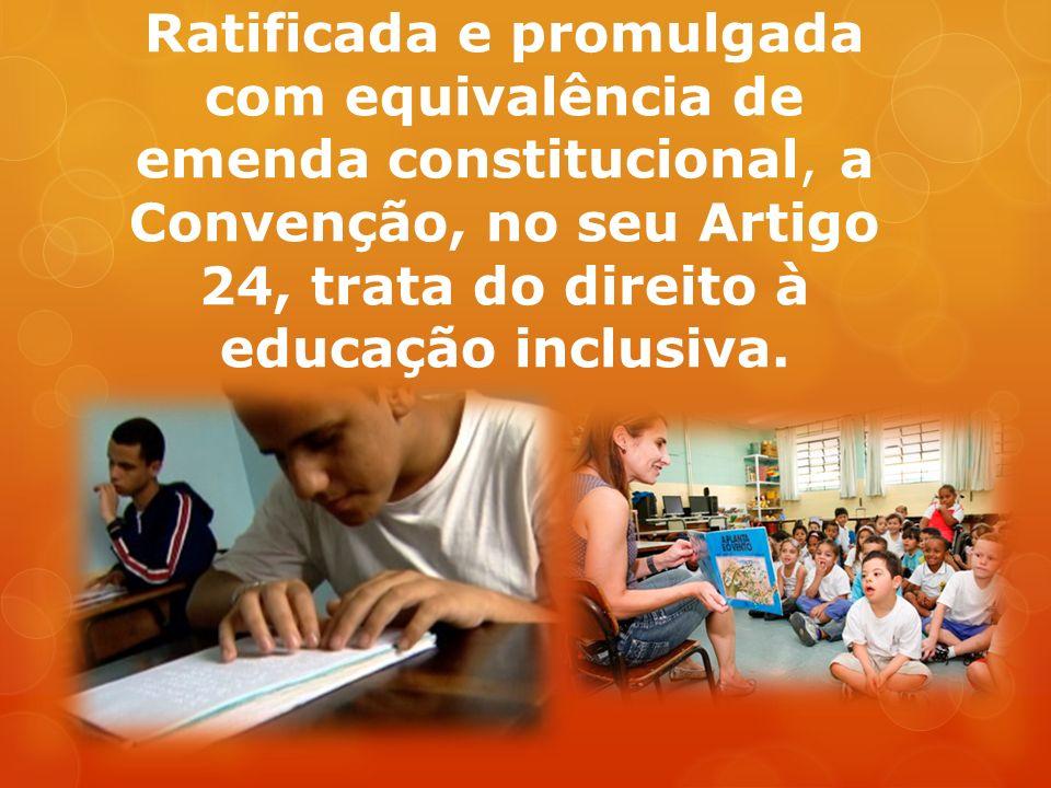 Para efetivar esse direito sem discriminação e com base na igualdade de oportunidades, os Estados Partes assegurarão sistema educacional inclusivo em todos os níveis, bem como o aprendizado ao longo de toda a vida (...)