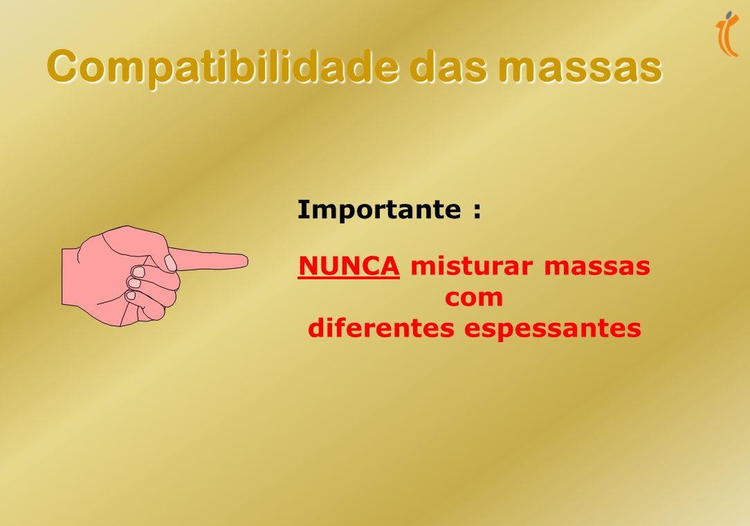 Influencia a temperatura máxima de utilização Influencia a temperatura máxima de utilização Pode determinar a temperatura mínima de utilização Pode de