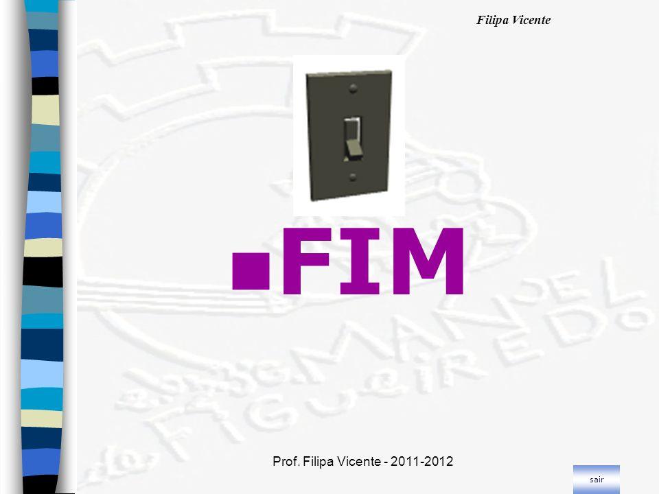 Filipa Vicente Prof. Filipa Vicente - 2011-2012 n FIM sair