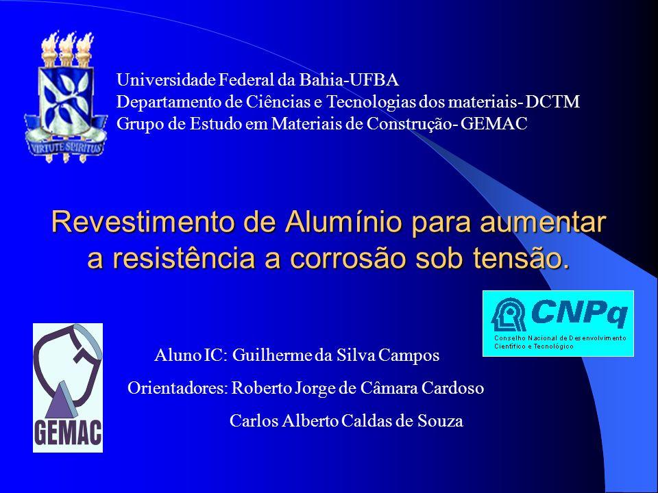 Revestimento de Alumínio para aumentar a resistência a corrosão sob tensão. Universidade Federal da Bahia-UFBA Departamento de Ciências e Tecnologias