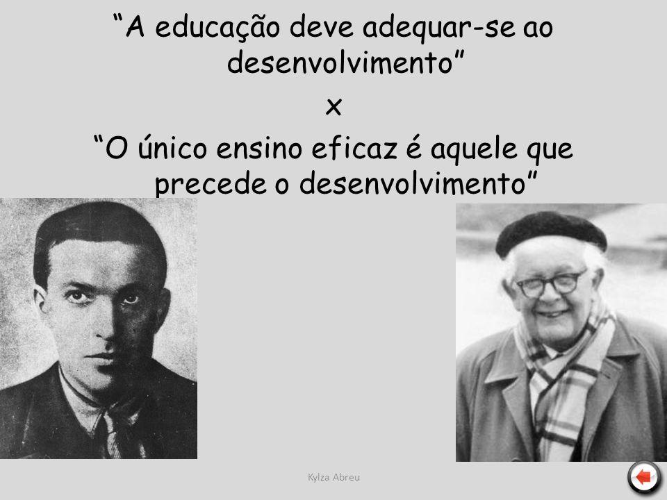 Kylza Abreu A educação deve adequar-se ao desenvolvimento x O único ensino eficaz é aquele que precede o desenvolvimento