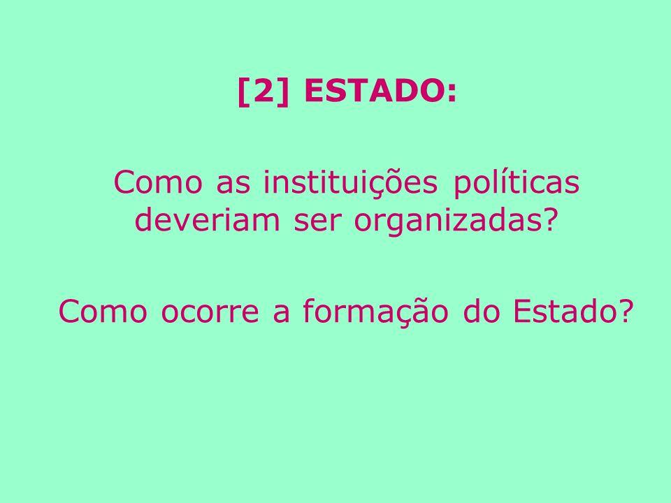 [2] ESTADO: Como as instituições políticas deveriam ser organizadas.