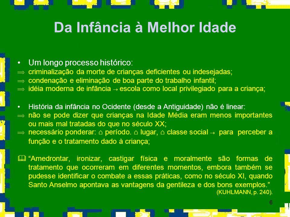 17 BRASIL: VARIAÇÃO POPULACIONAL POR FAIXA ETÁRIA (1991-2000) Fonte: IBGE - Censos 1991 e 2000.