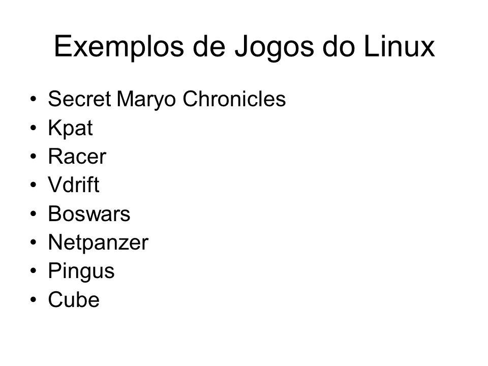 Exemplos de Jogos do Linux Secret Maryo Chronicles Kpat Racer Vdrift Boswars Netpanzer Pingus Cube