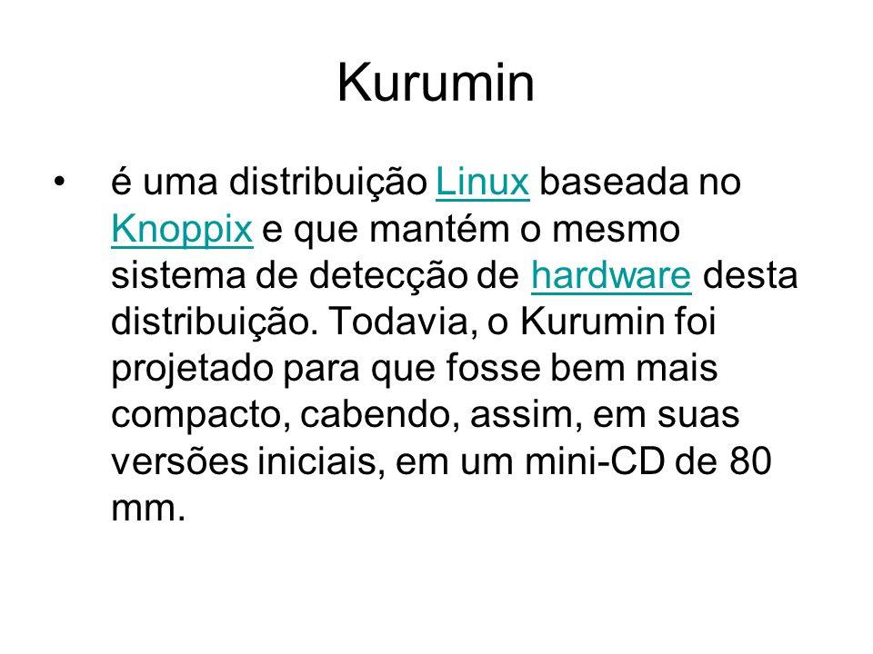 Kurumin é uma distribuição Linux baseada no Knoppix e que mantém o mesmo sistema de detecção de hardware desta distribuição.