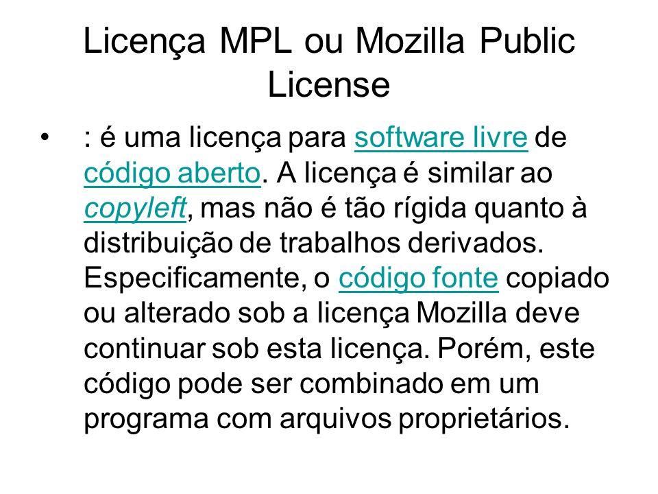 Licença Apache é uma licença para software livre.